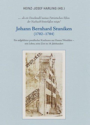 """Titelseite des Buches """"Johann-Bernhard Stuniken"""""""